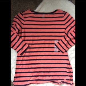 NWT Old Navy boat neck long sleeve tee med